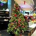 Nathan's熱狗店前的聖誕樹