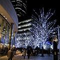 比薩店就在六本木Hills附近,所以順便散步去看有名的聖誕夜景