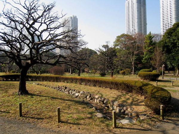 今日陽光暖暖,但冬季庭園景色仍蕭瑟異常