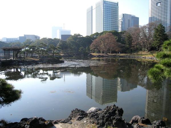 濱離宮擁有東京都內唯一的「潮入池