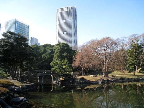 「潮入池」意指引進海水、並藉由潮汐的漲退來營造池塘景觀