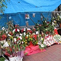 花店也搭棚賣起年節花飾