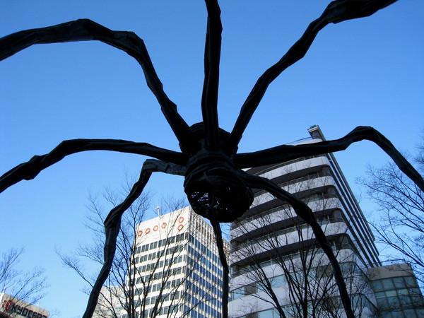 大蜘蛛是由法國藝術家Louise Bourgeois設計,高約10M,鋼筋製成
