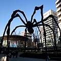 吃完午餐到六本木丘廣場,對我愛的大蜘蛛說哈囉