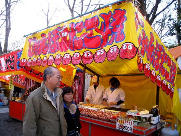 大白說童年時新年來神社參拜,就像逛廟會或夜市一樣興奮
