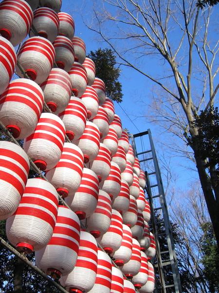 藍天配上紅白燈籠,今年也會是個好年吧?