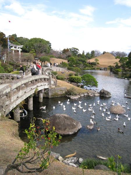 「回游式」庭園可供人走進去賞玩的,觀賞角度很多,移步即可换景。