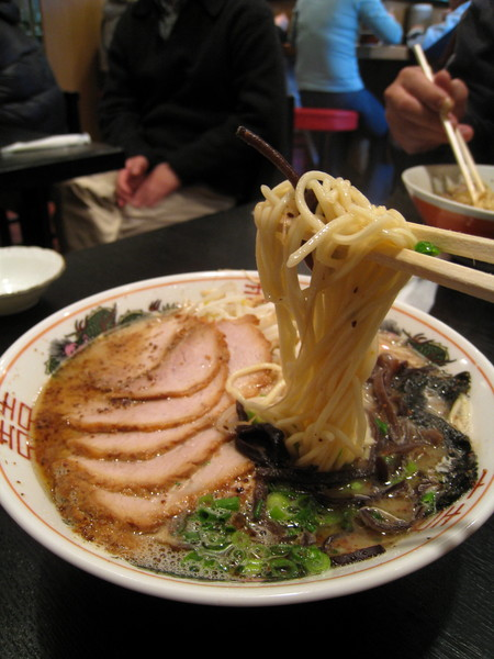 麵條是正常的日式偏硬口感,比較有嚼勁