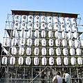 上野公園門口,由各商家捐贈的燈籠