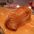 第十道,星鰻握壽司,想把胃留給最後一道自選壽司,所以這個讓給朋友了