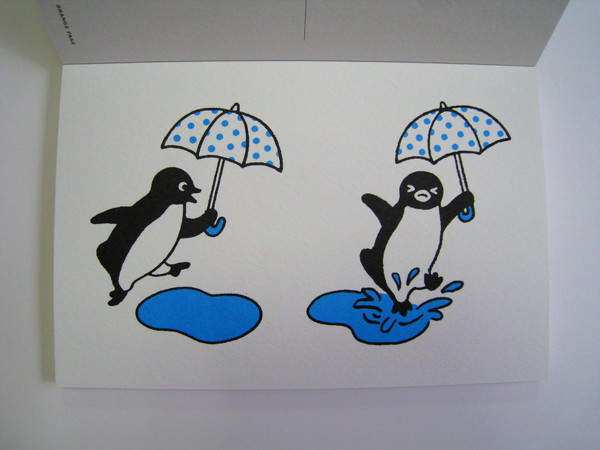 Suica企鵝明信片之八:梅雨季