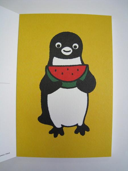 Suica企鵝明信片之十:吃西瓜