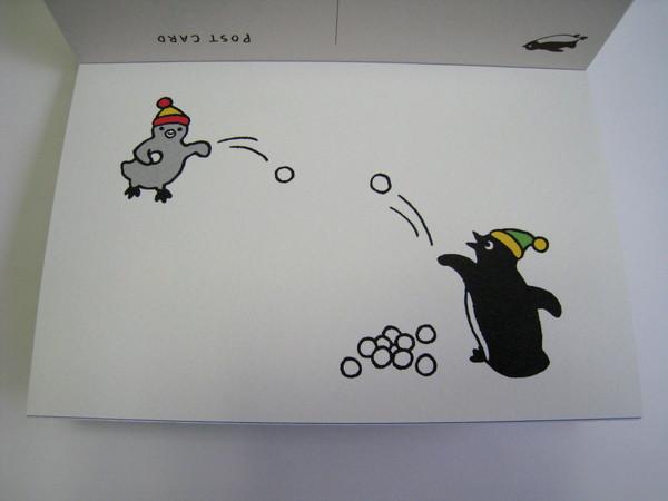 Suica企鵝明信片之二十三:打雪仗