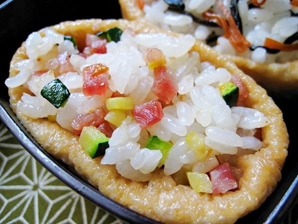 香腸櫛瓜稻荷壽司