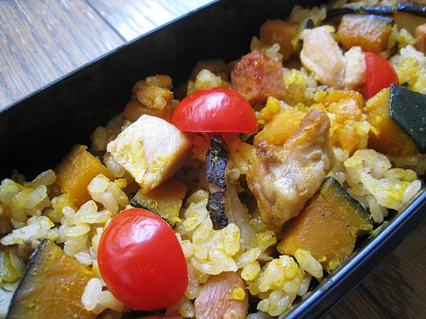 南瓜雞肉炊飯