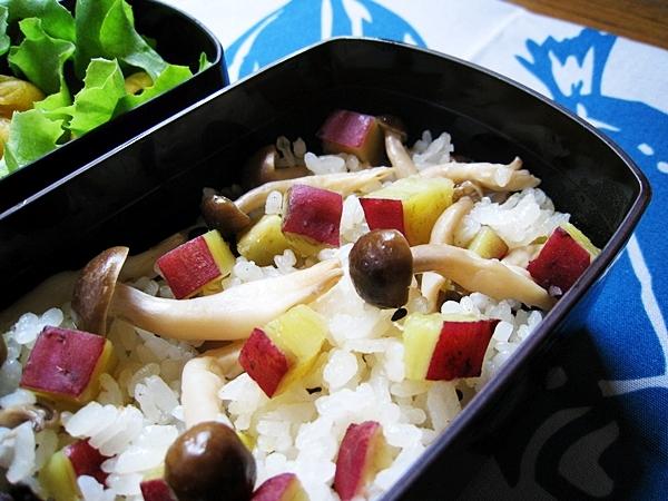 甘藷鴻禧菇炊飯