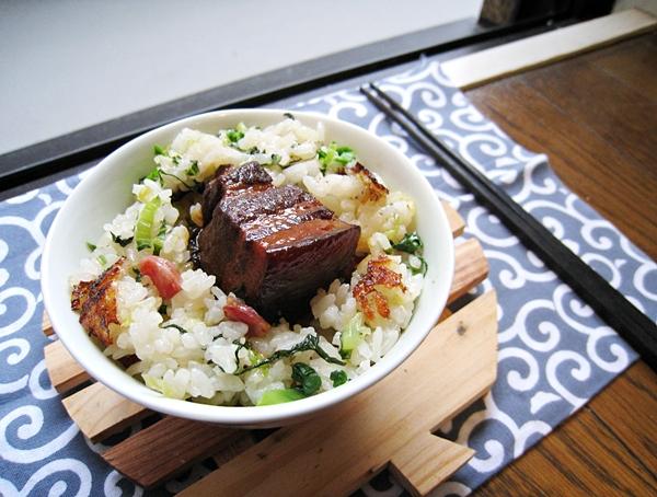 上海菜飯+東坡肉