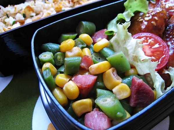 玉米四季豆炒香腸