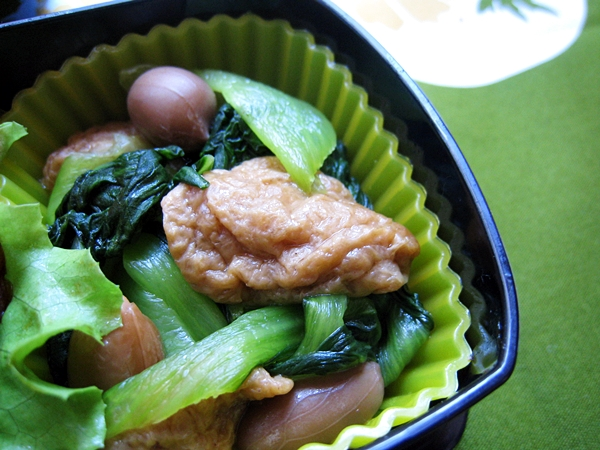 土豆麵筋拌青江菜