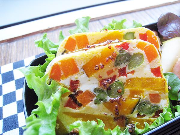 陶罐風野菜蒸糕