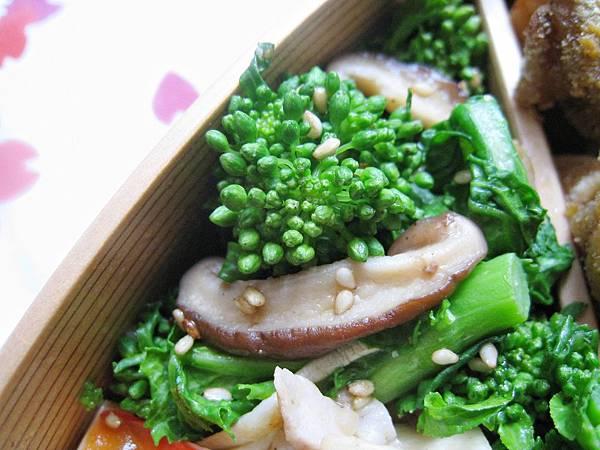 油菜花炒鮮菇
