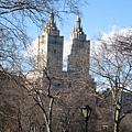 中央公園西側的雙塔公寓