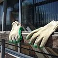 有人在窗台上曬手套,遠看好像戴了手套的隱形人