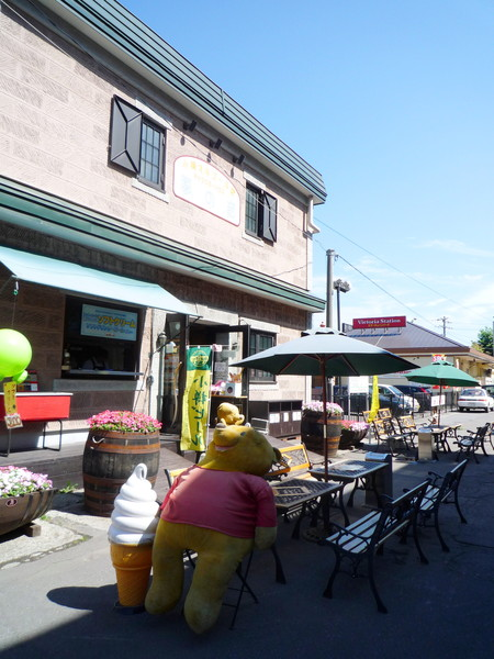 小樽的街道一派悠閒,都是閒逛的遊客