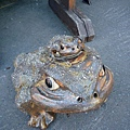 忘了是在哪家店前拍的,很逗趣的蟾蜍老背少