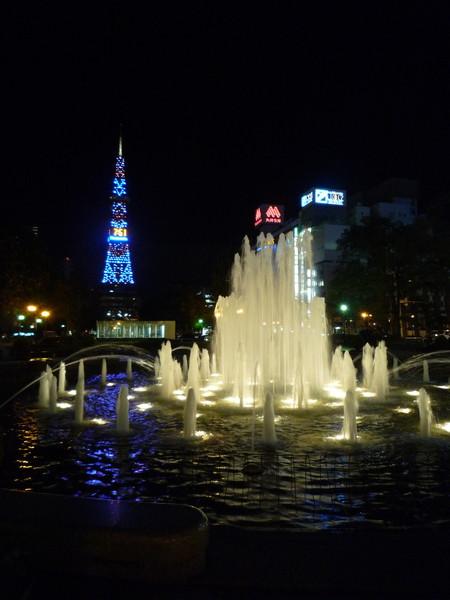 我就坐在大通公園裡痴痴看了十幾分鐘噴泉