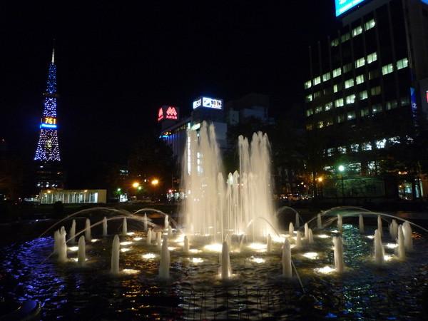 大通公園的水舞噴泉