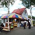 旭山動物園內隨處可見紀念品/飲食販賣部