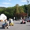 旭山動物園正門入口處的動物造型玩具車