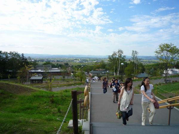 園區坐落在地勢起伏的小山丘上