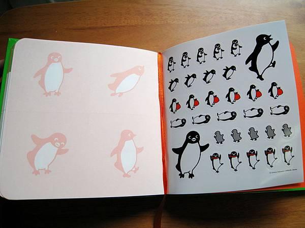 可撕下的便條紙頁+企鵝貼紙