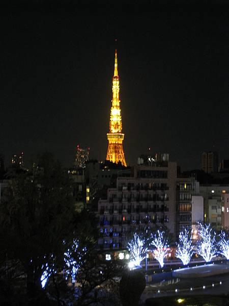 冬天的東京鐵塔,有點寂寞的味道
