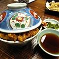天丼上桌囉,碗蓋很漂亮