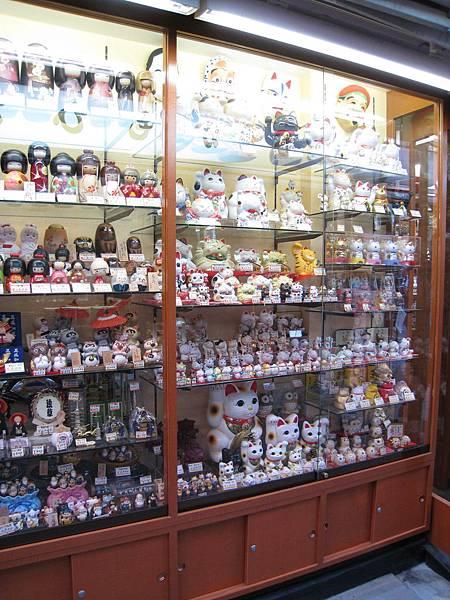 玩具店的櫥窗
