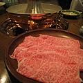 這是一人份的仙台牛肉,份量不多,日式涮涮鍋吃巧不吃飽