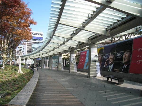 六本木之丘廣場旁的美麗迴廊