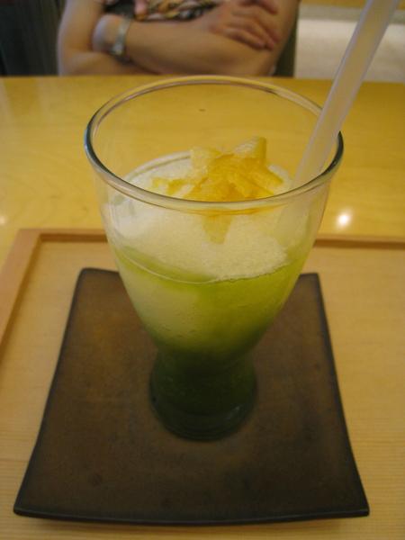 柚子綠茶冰砂很清爽
