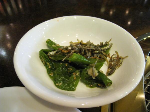 小菜:小魚乾青辣椒