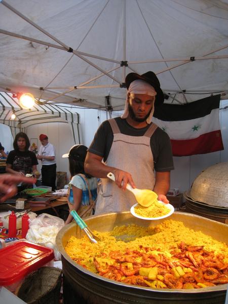 敘利亞的海鮮薑黃飯(?)