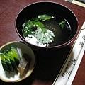 附餐的清湯和漬物