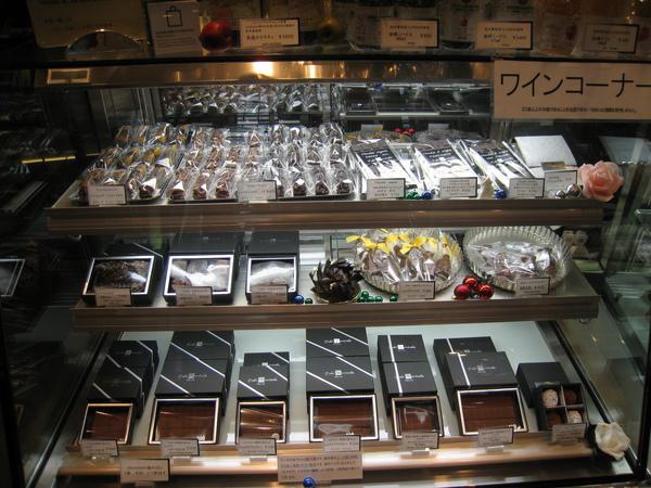外帶的巧克力陳列櫃,我對巧克力沒什麼興趣,所以沒仔細研究