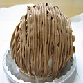 11/22,Mont Blanc,巧克力鮮奶油栗子蒙布朗,550円。蒙布朗永遠是大白的愛