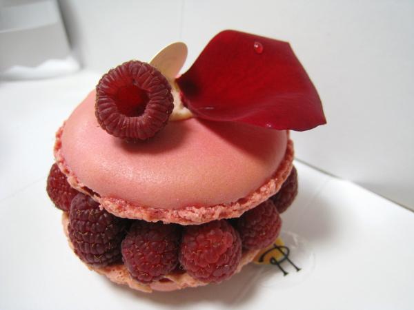 Ispahan背面也很上相,玫瑰花瓣上還有店家特意灑上的一滴水珠
