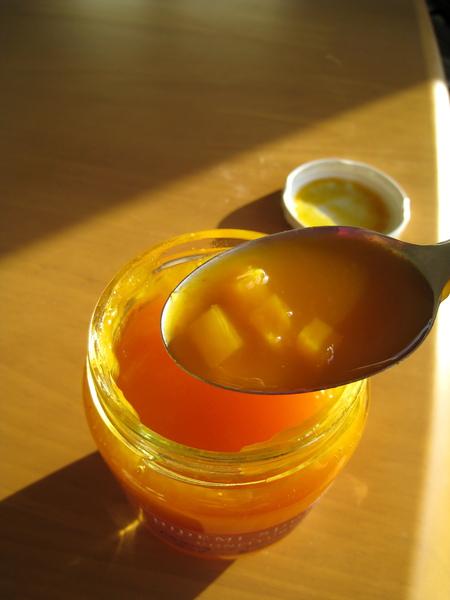 他家的芒果果醬是我喜歡的流質果醬,充滿芒果果粒