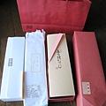 五三燒カステラ則讓我見識到日本過度包裝文化,這些全是它的包裝,而且還不是全部