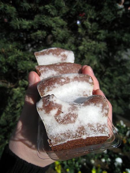 銀座松坂屋限定的巧克力年輪蛋糕